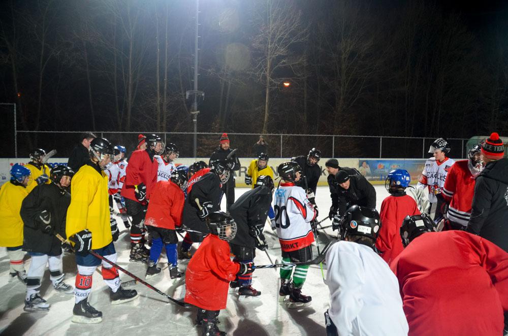 Training mit den IceTigers Profis